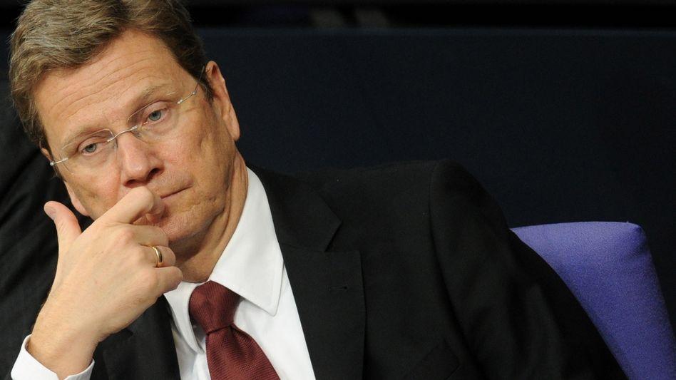Außenminister Guido Westerwelle: Unangenehme Dinge sollen die anderen erledigen