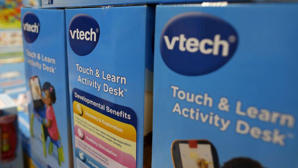 VTech-Produkte (in einem Spielzeuggeschäft in Hongkong): Profile von 6,4 Millionen Kindern betroffen
