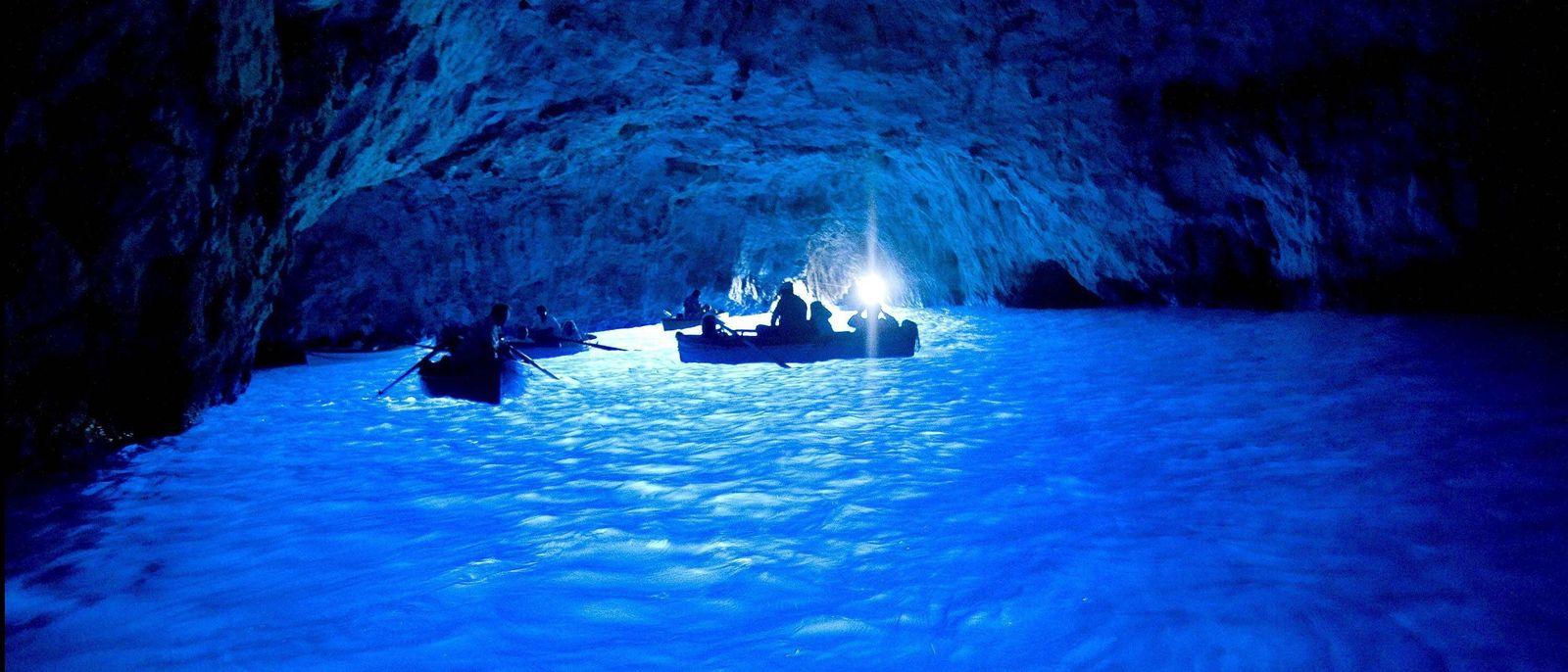 EINMALIGE VERWENDUNG Italien/ Capri/ Blaue Grotte