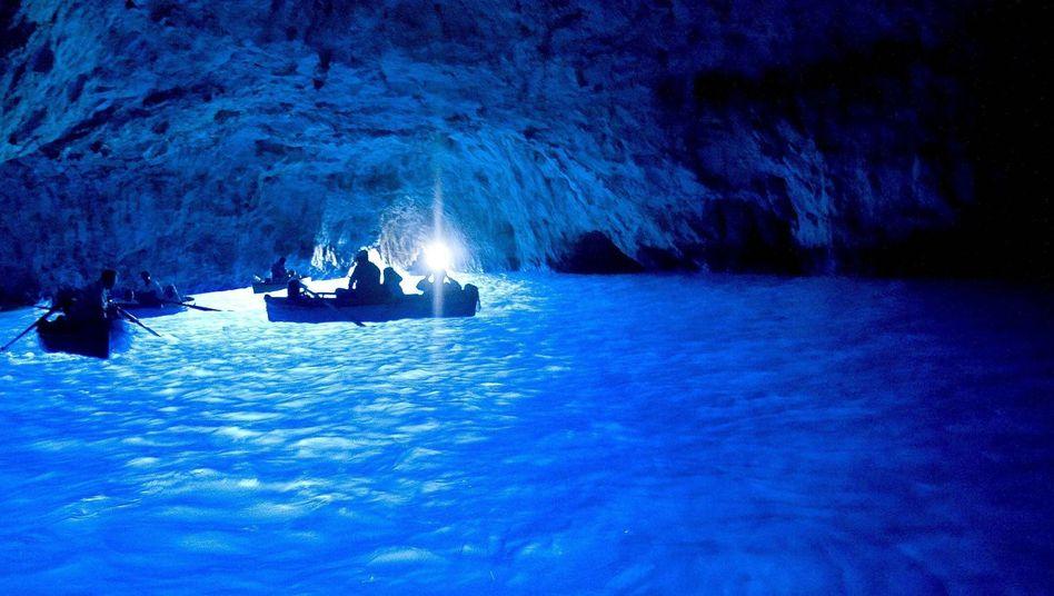 Blaue Grotte auf Capri