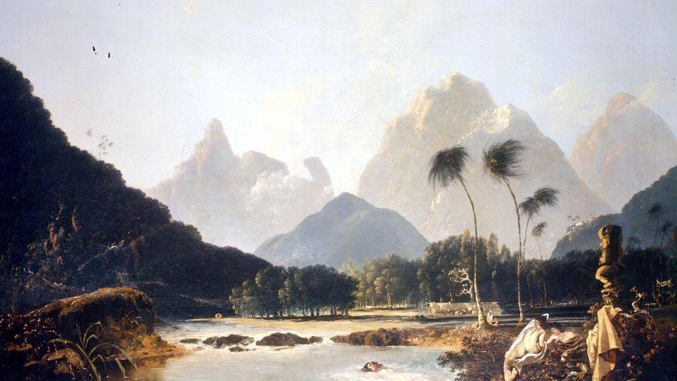 Traumhaft: Tahiti, festgehalten von William Hodges auf Cooks zweiter Reise