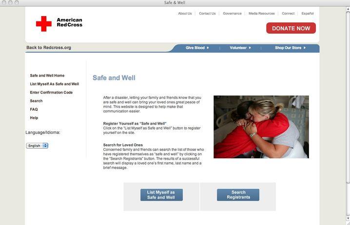 Safe and Well: Dem Roten Kreuz mitteilen, dass es einem gut geht