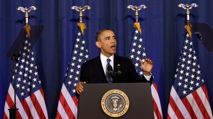 Obamas Drohnenrede: Der Präsident und die Zwischenruferin