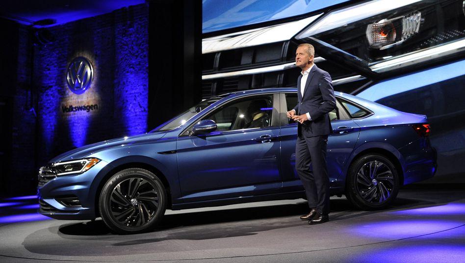 VW-Chef Herbert Diess auf der Detroit Auto Show (Januar 2018)