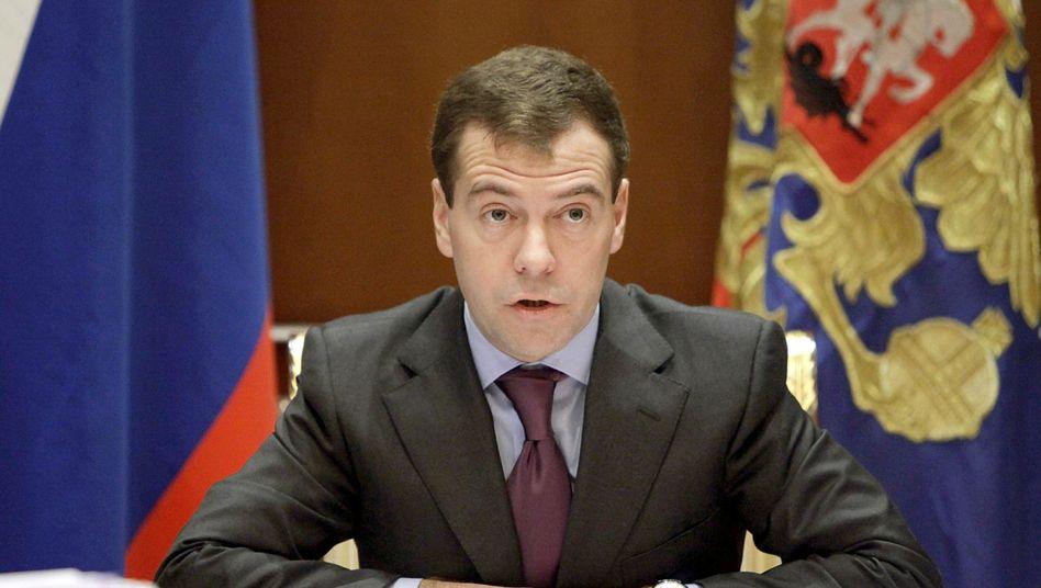"""Russlands Präsident Medwedew: """"Unsere Werte sind dieselben wie im Westen"""""""