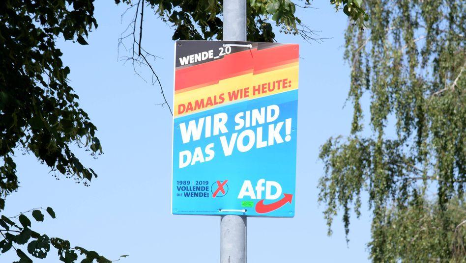 Wahlkampfplakat der AfD: Kein Copyright auf Slogans