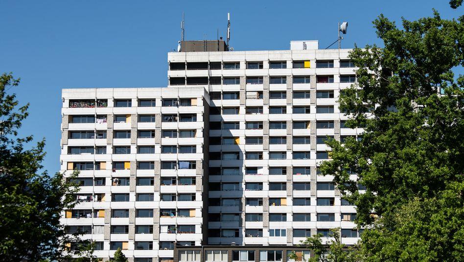 Hochhauskomplexin Göttingen, in dem Kontaktpersonen leben sollen