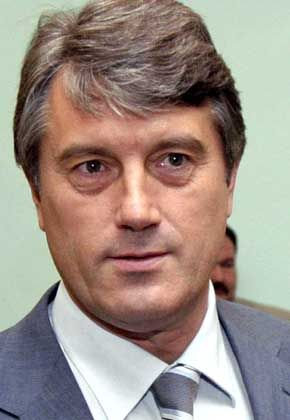 Juschtschenko zwei Monate vor der Erkrankung