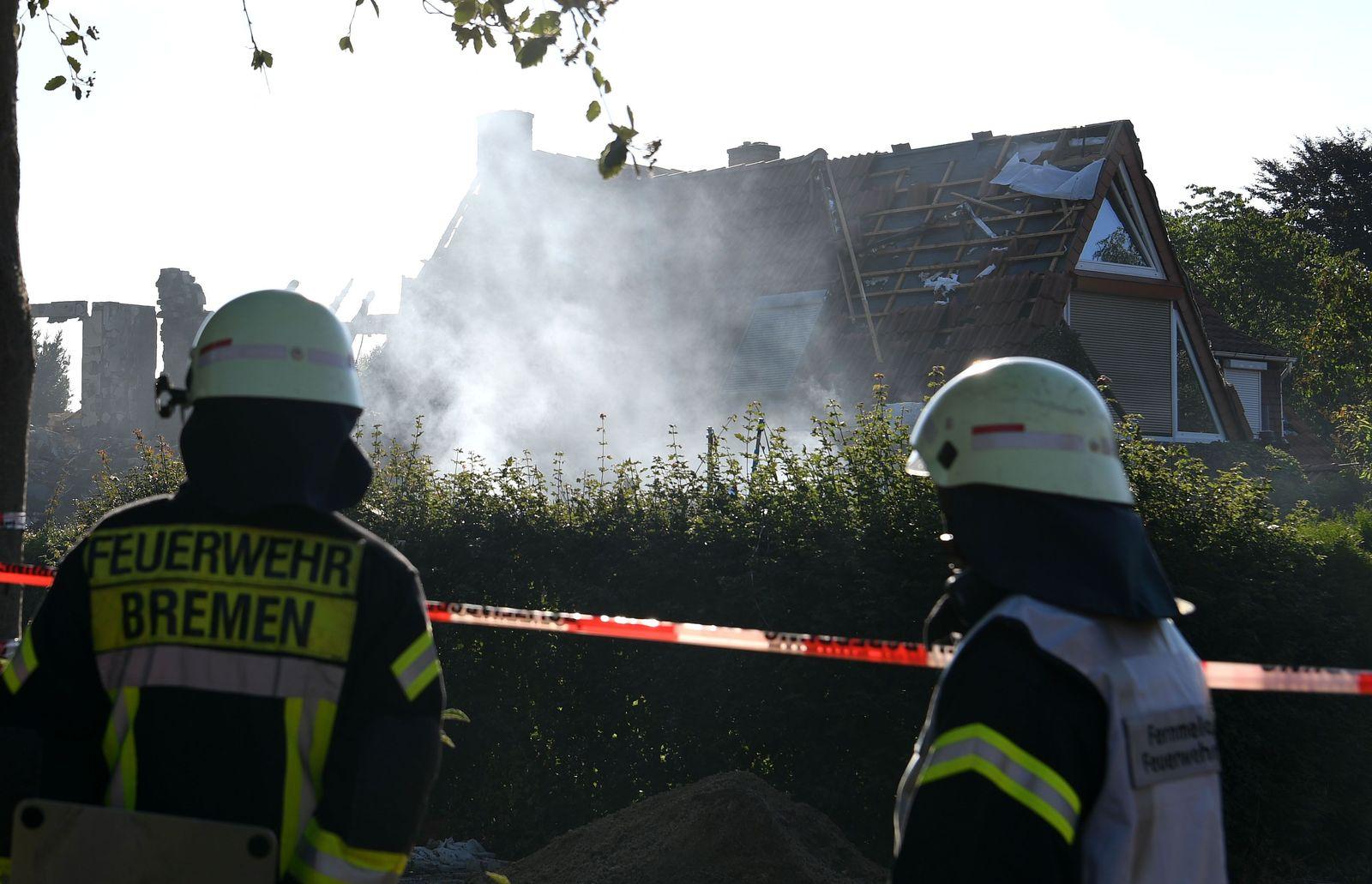 Explosion/ Bremen Wohnhaus