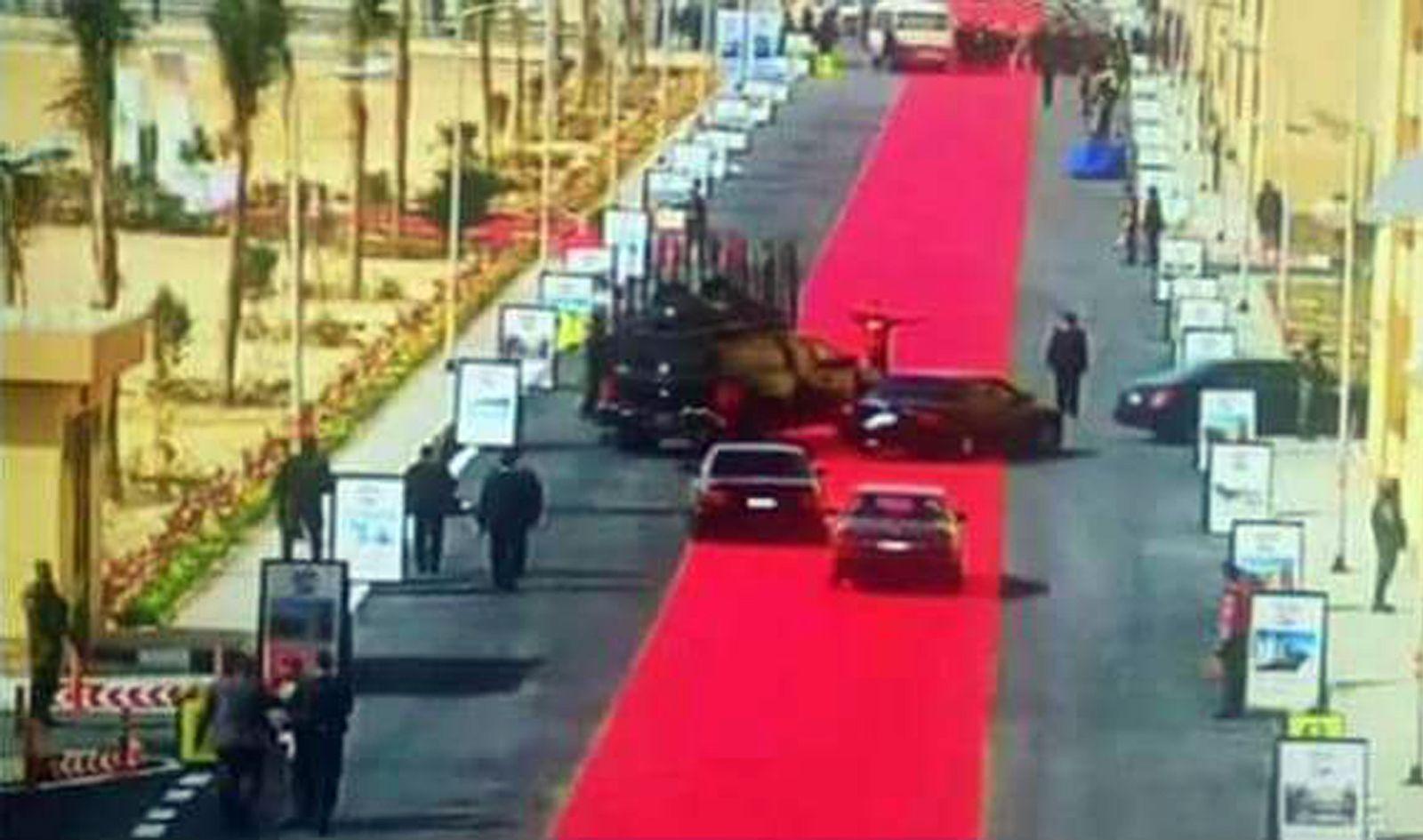 Sissi Egypt Ägypten roter Teppich