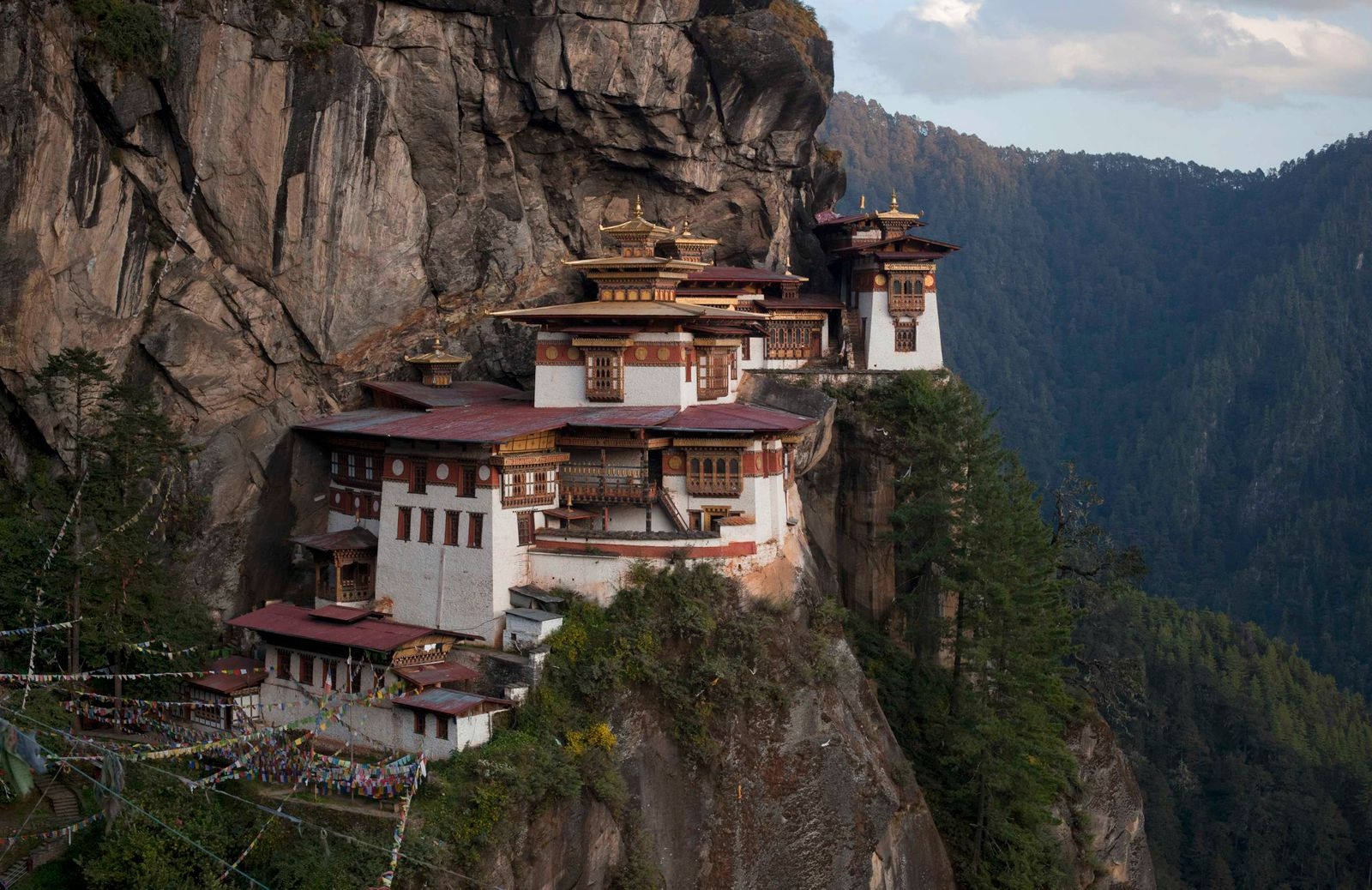 The ParoTaktsang Palphug Buddhist monastery, also known as the Tiger's Nest, is photographed in Paro district, Bhutan
