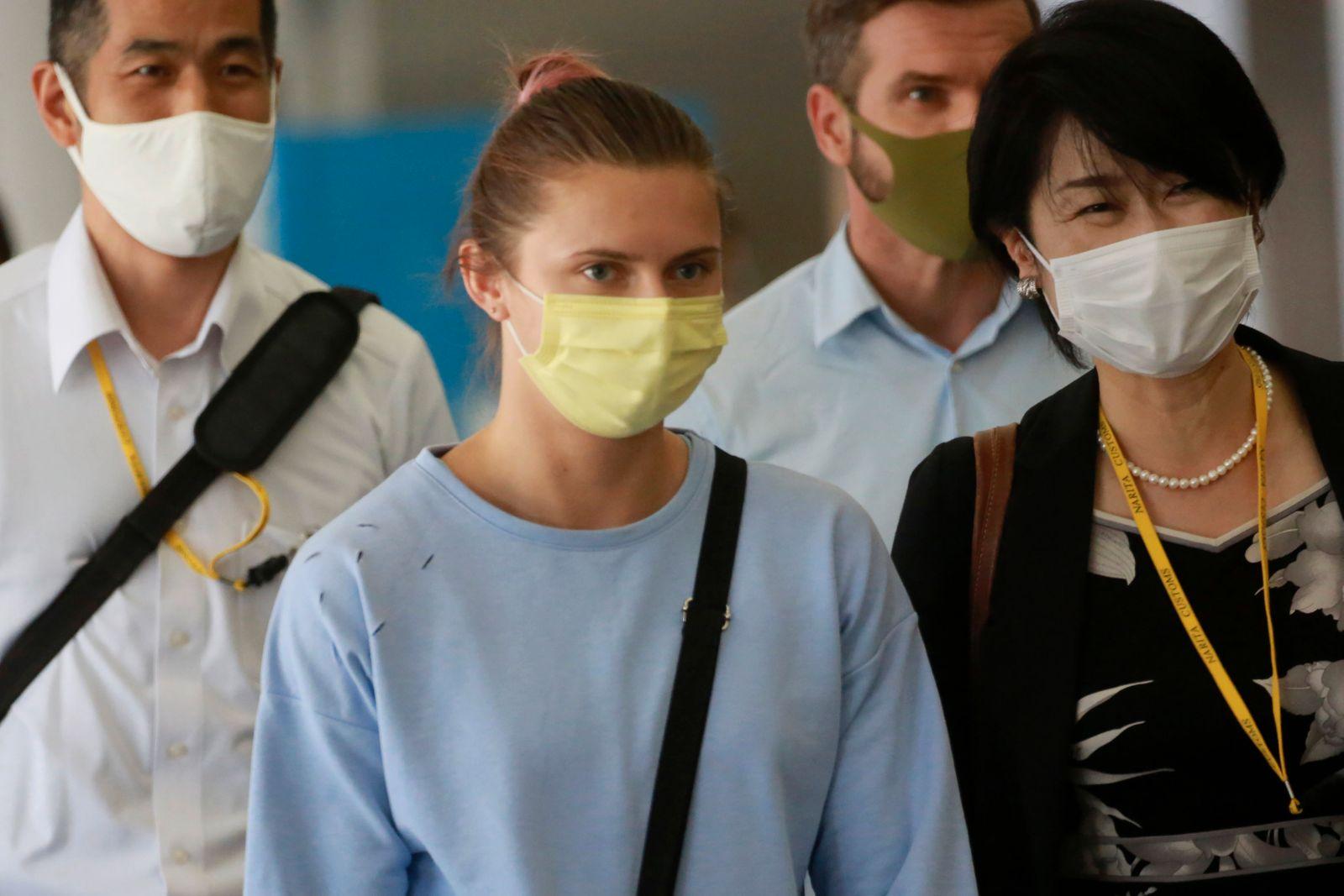 Tokio 2020 - Timanowskaja am Flughafen