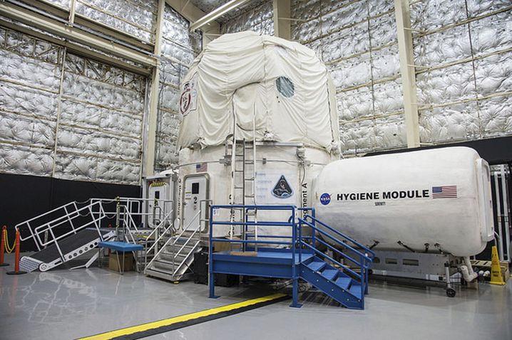 Hera-Simulator, in dem eine Crew der Nasa zu Testzwecken lebt