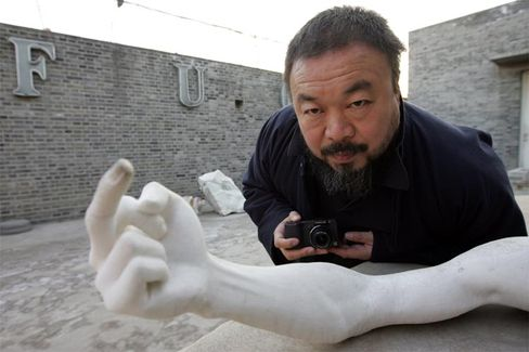 Chinese artist Ai Weiwei at his home in Beijing.