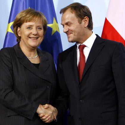 Kanzlerin Merkel und Polens Premier Tusk: Kennen sich seit Jahren und Duzen sich.