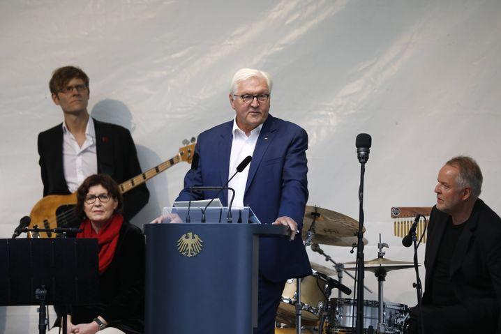Steinmeier bei seiner Rede vor Beginn des Jazzkonzerts