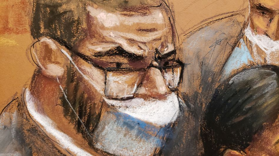 R. Kelly (Gerichtszeichnung) droht eine lange Haftstrafe