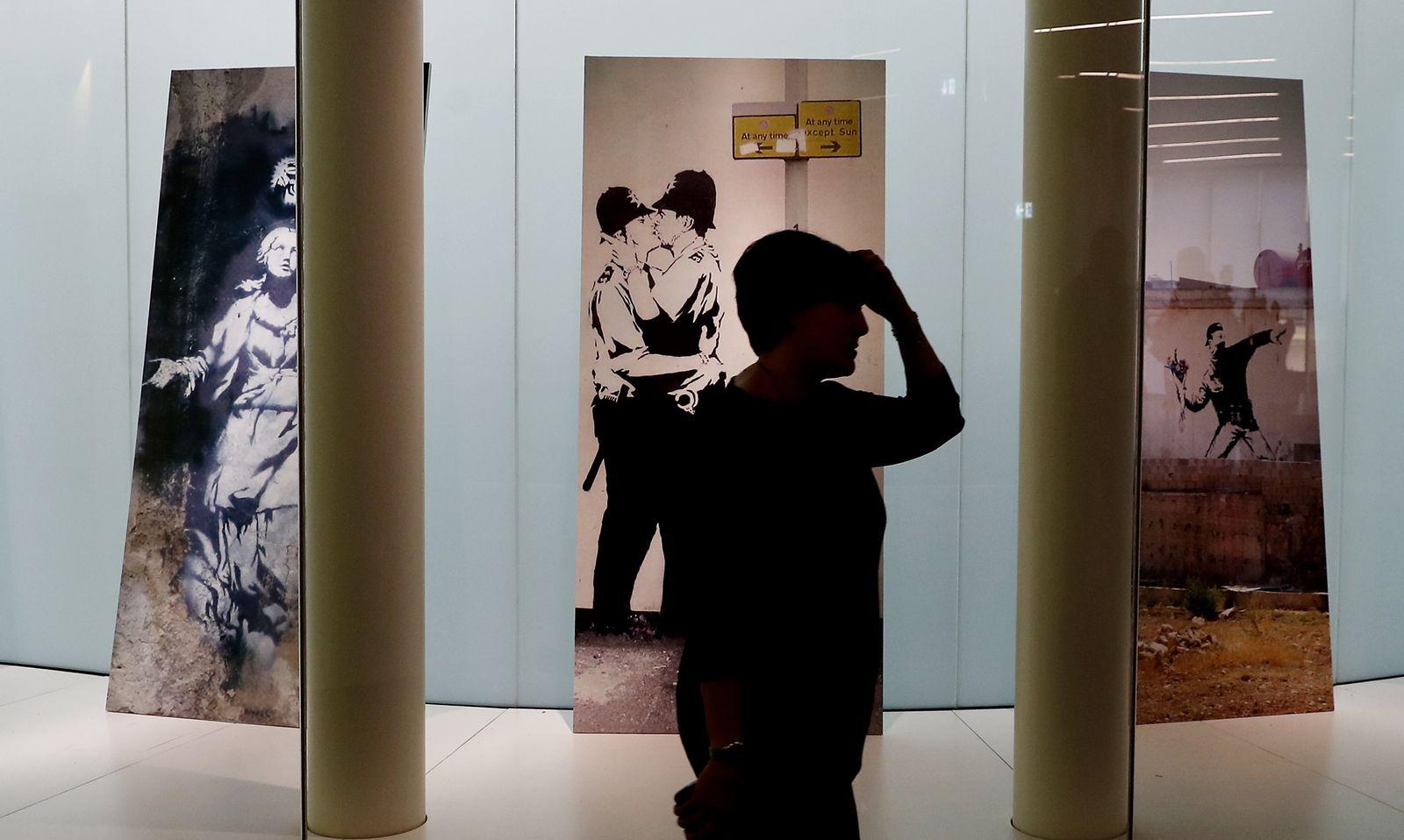 Banksy-Ausstellung in Mailand