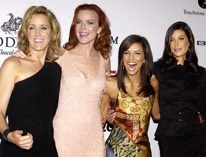 """""""Desperate Housewives""""-Darstellerinnen Felicity Huffman, Marcia Cross, Eva Longoria und Teri Hatcher (v.l.n.r.): Sexbestien im Quotenhoch"""