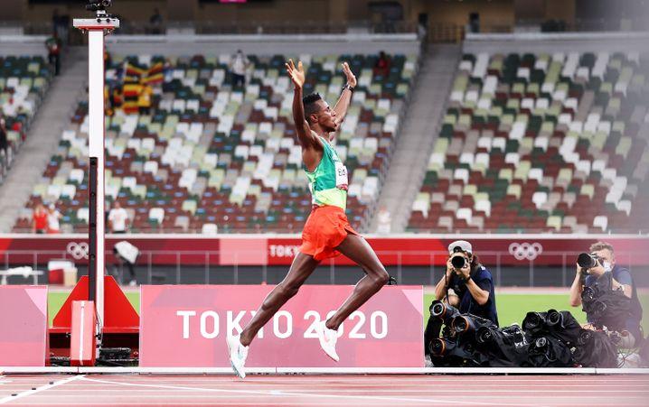 Das erste Leichtathletik-Gold gewinnt Selemon Barega