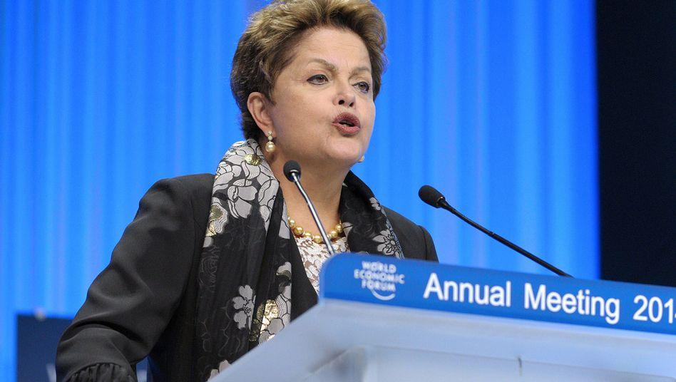 Brasiliens Präsidentin Rousseff in Davos: Werben um Vertrauen in ihr Land