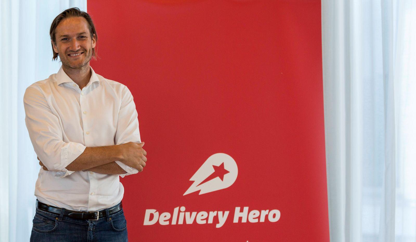 Niklas ÷stberg (Vorstandsvorsitzender der Delivery Hero AG) auf der Delivery Hero AG Hauptversammlung am 06.06.2018 in B