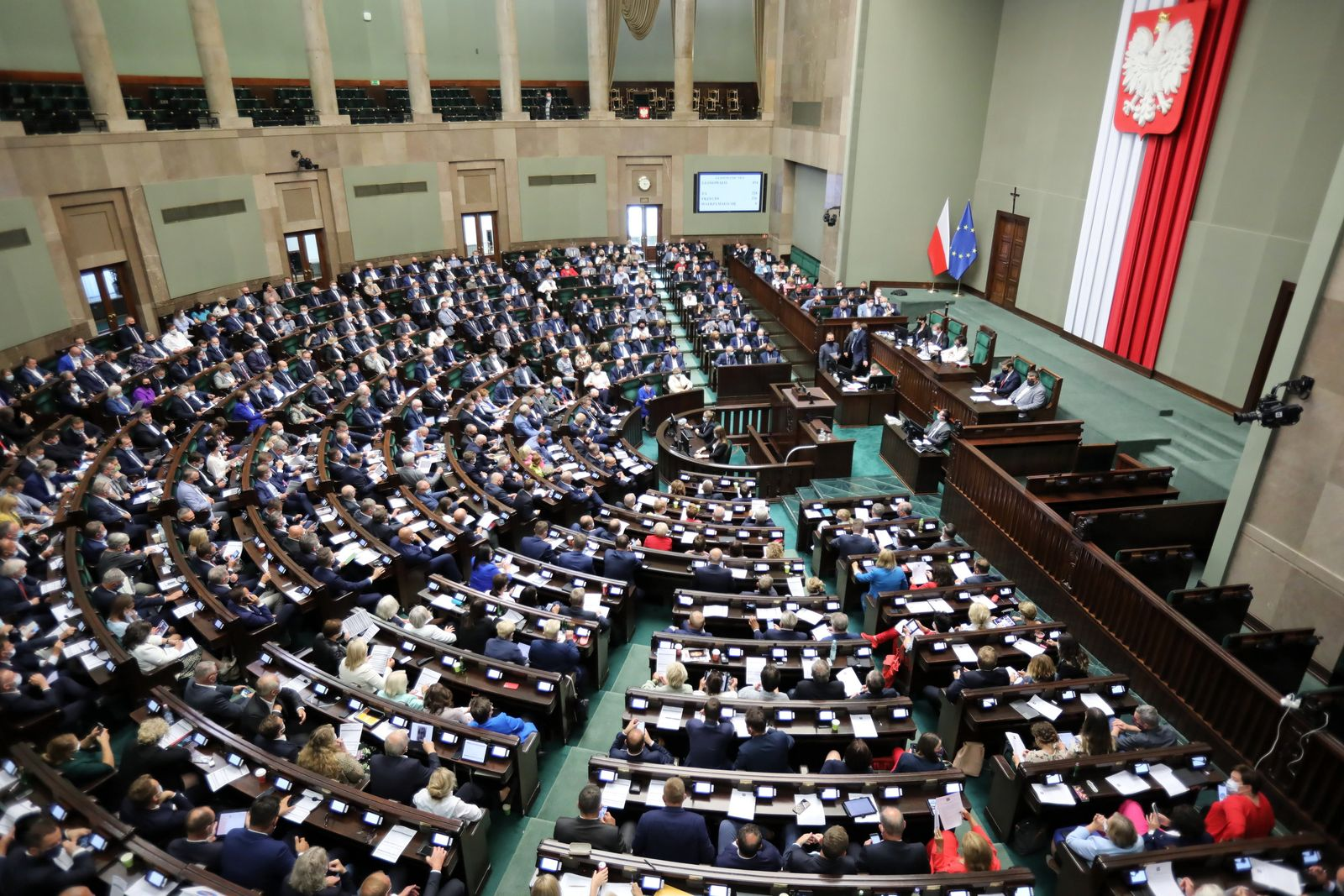 Parlamentsdebatte über Mediengesetz in Warschau