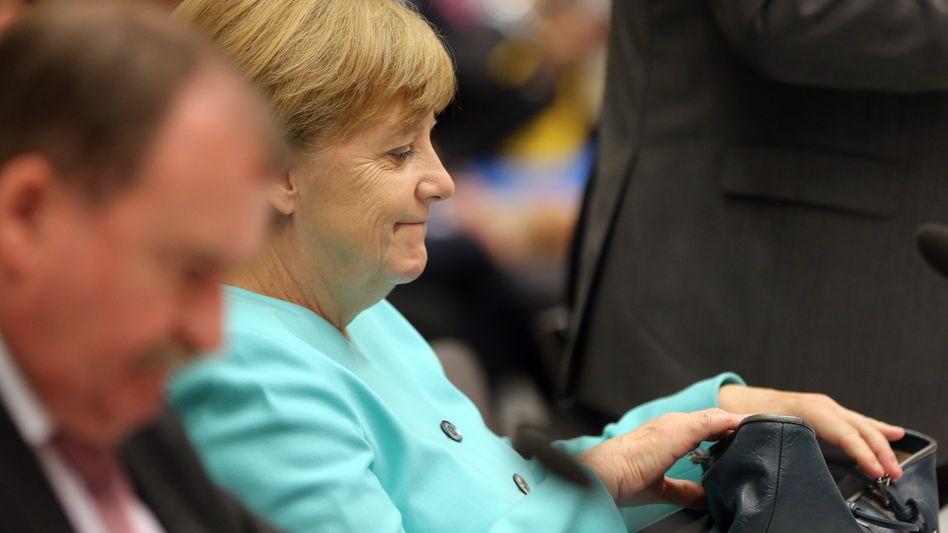 Kanzlerin Merkel in der Brexit-Debatte