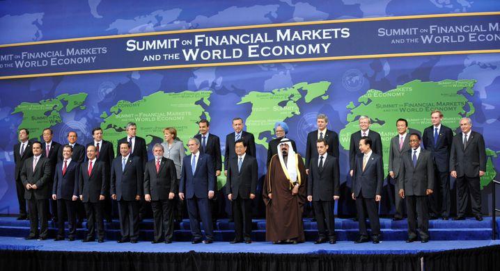 G20-Treffen 2008 in Washington: Abgestimmtes Handeln zur Rettung der Wirtschaft