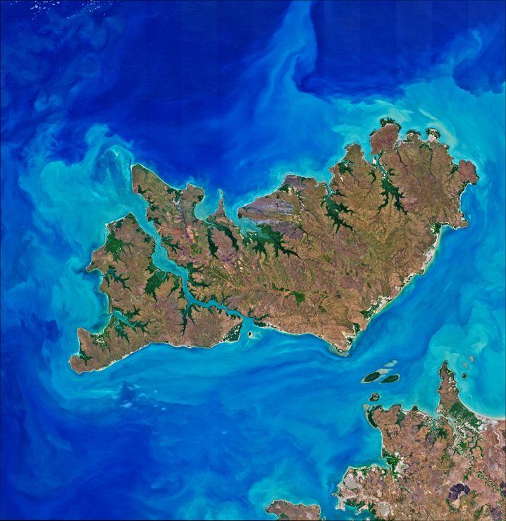 Die Apsley Strait trennt die größere Insel Melville von Bathurst