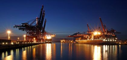 Containerterminal im Hamburger Hafen: Exportumsatz legt zu