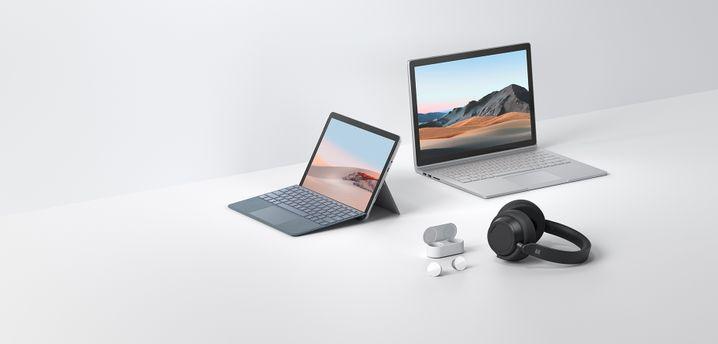 Die vier neuen Produkte aus Microsofts Surface-Serie