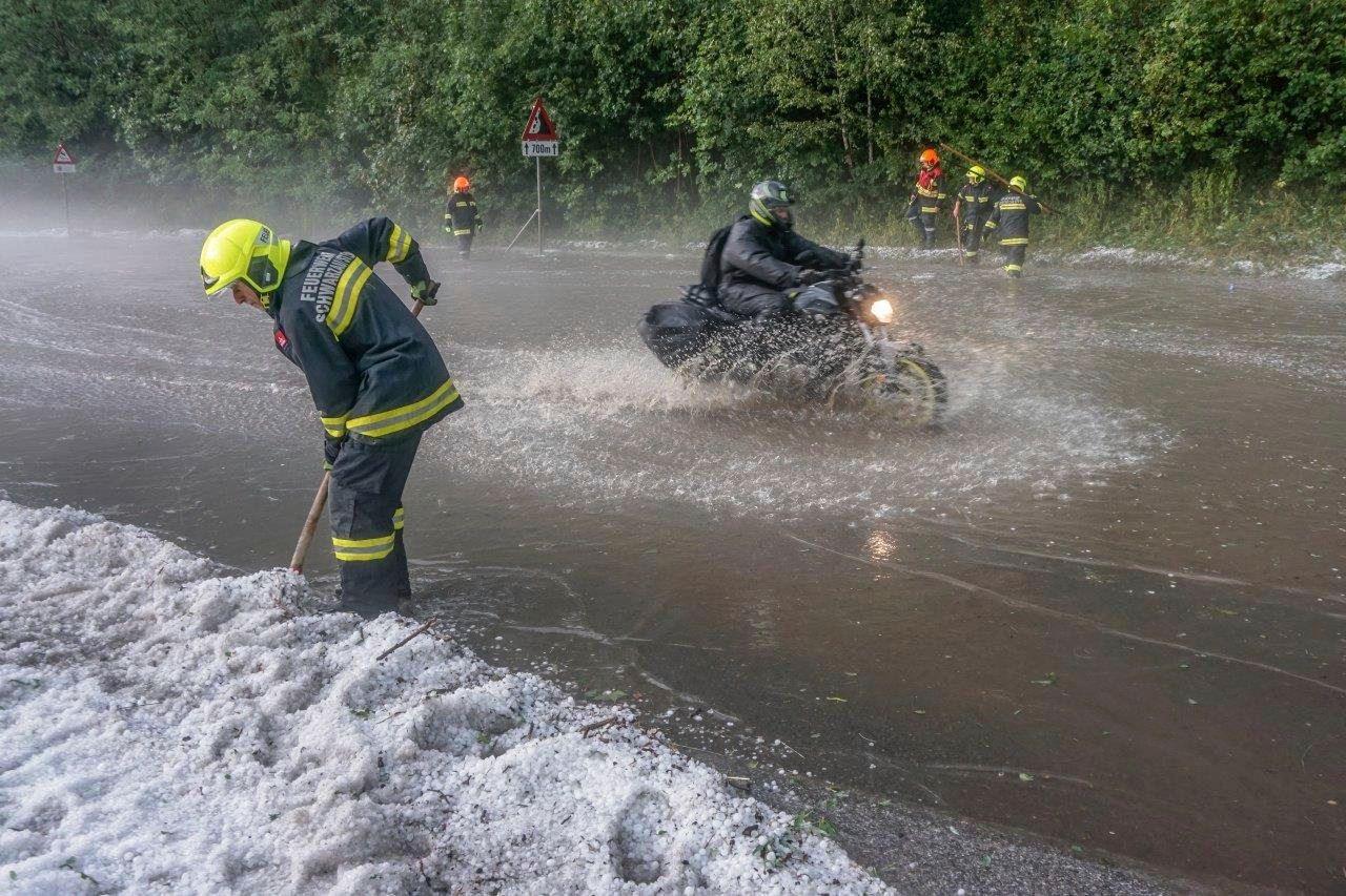 Überschwemmungen in Österreich