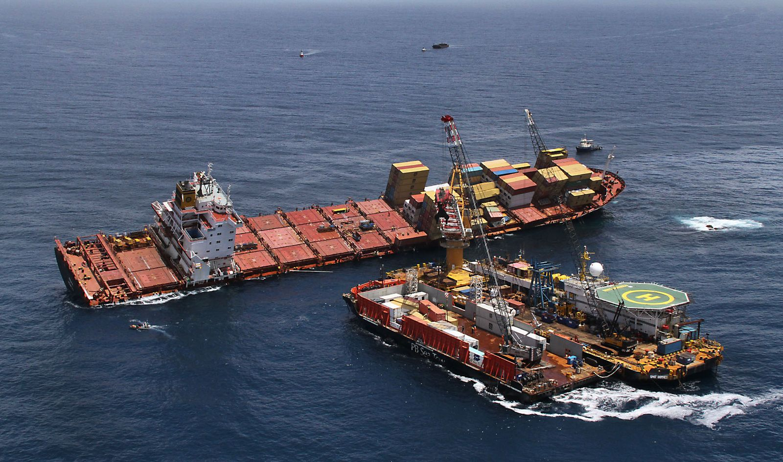Frachtschiff / Unfall / Rena