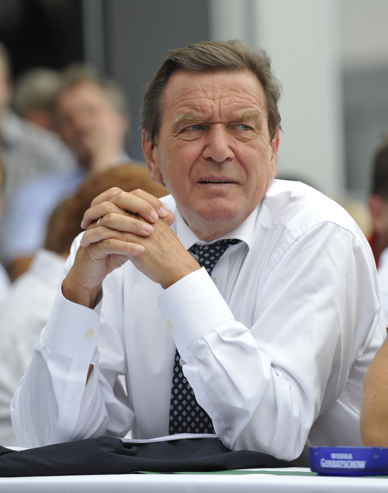 Gerhard Schröder im Ausguts 2009