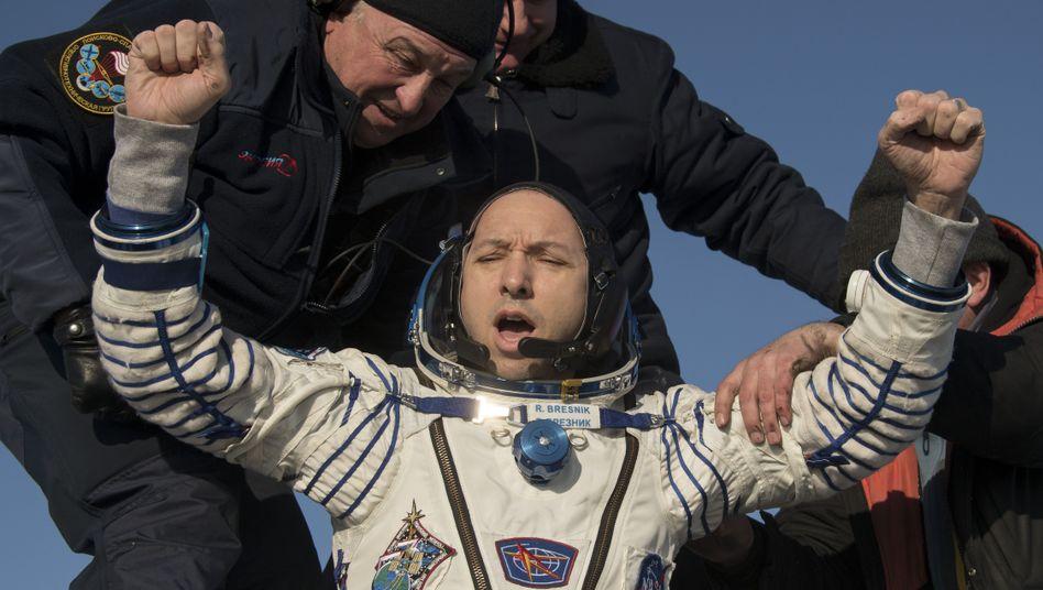 Nasa-Astronaut Randy Bresnik nach der Landung