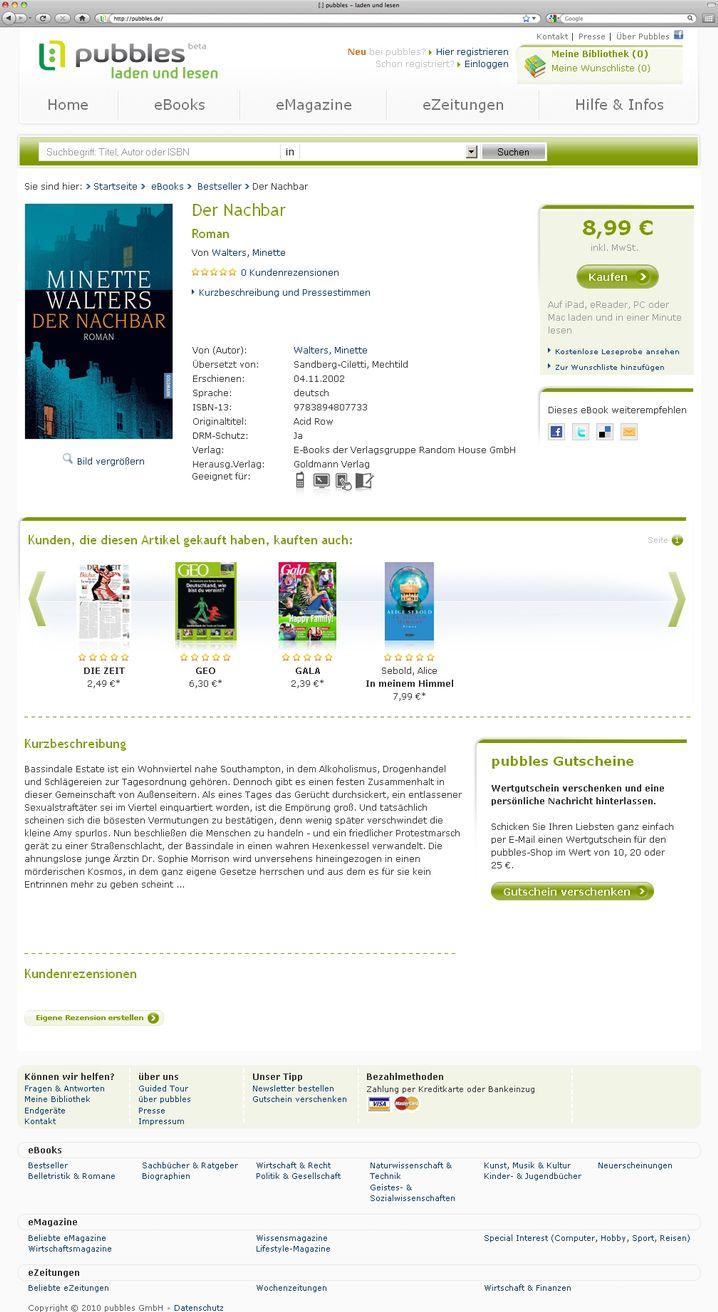 Bestseller: Als E-Book nur einen Euro billiger als die gedruckte Version