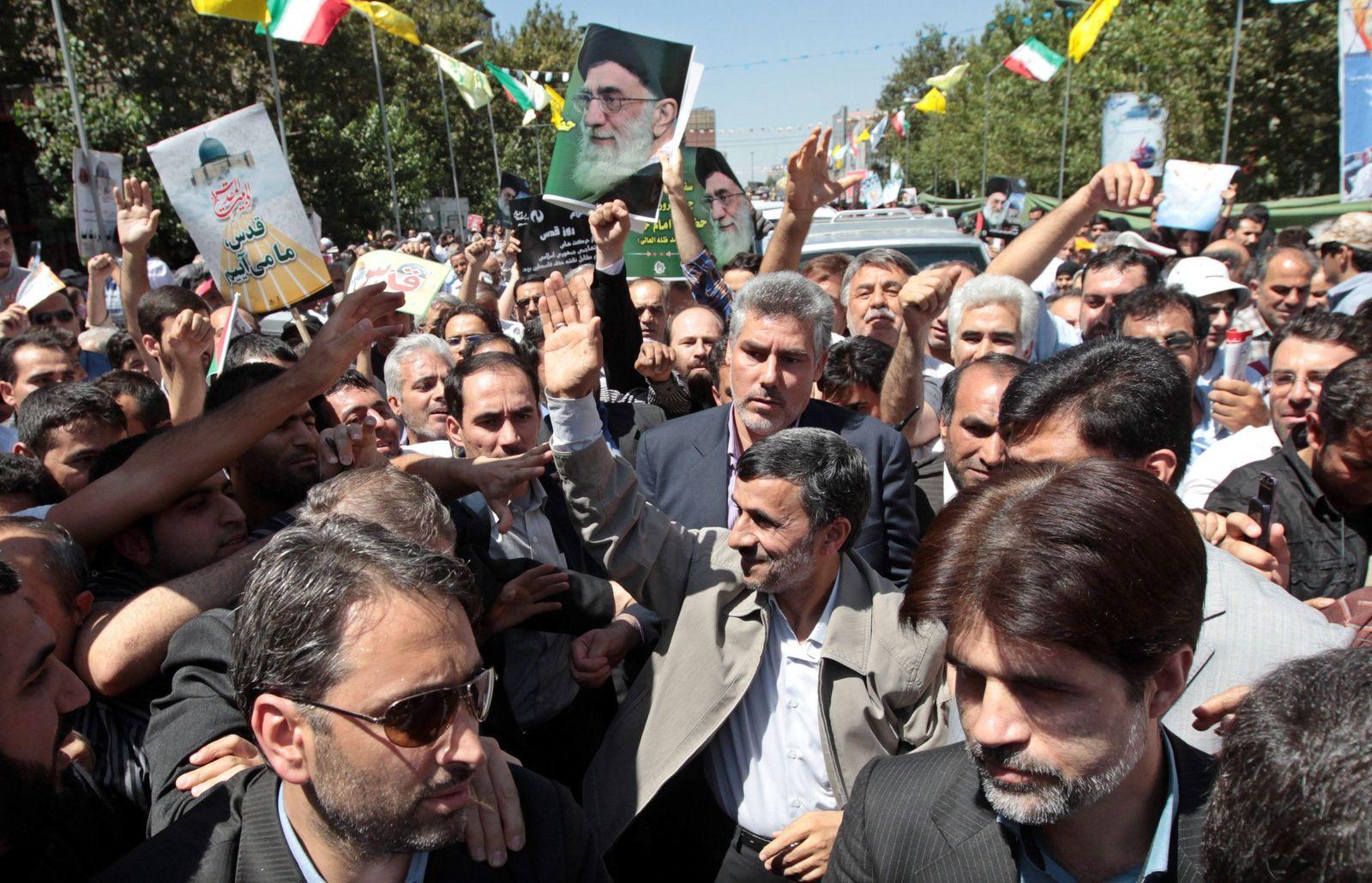 Anti-Israel-Demo / Iran / Ahmadinedschad