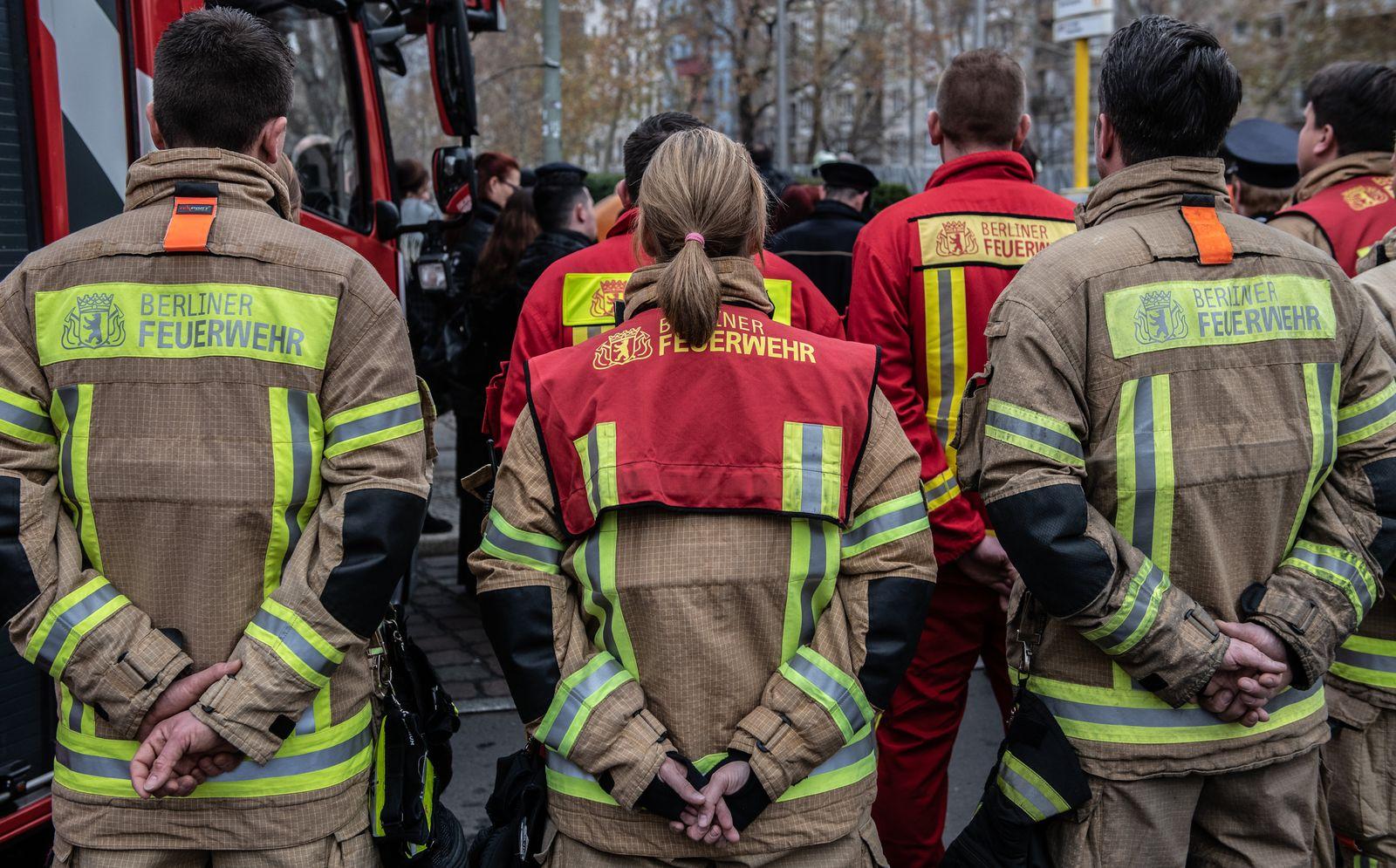 Gedenken an verstorbene Feuerwehrleute