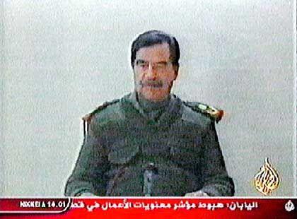 Saddam-Rede bei al-Dschasira: Verbindungen zum irakischen Geheimdienst?