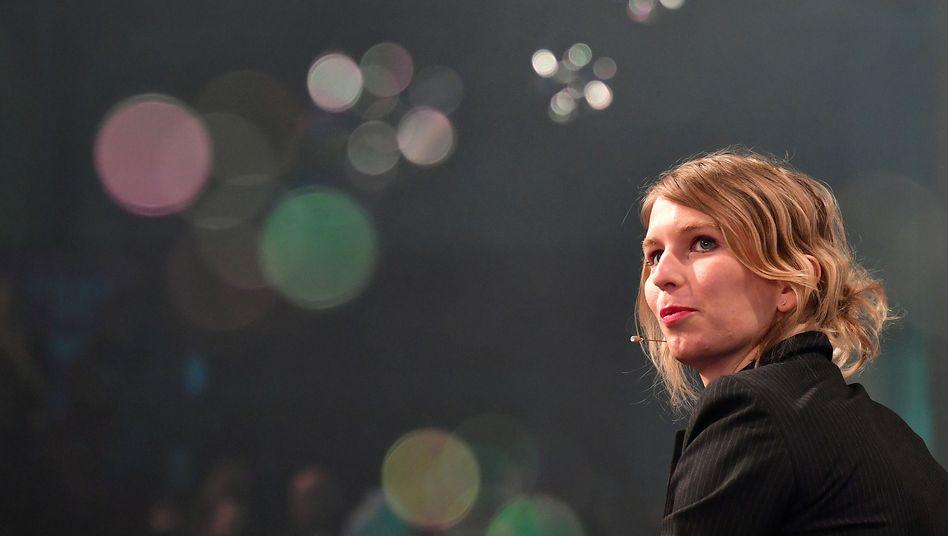 Chelsea Manning auf der re:publica in Berlin