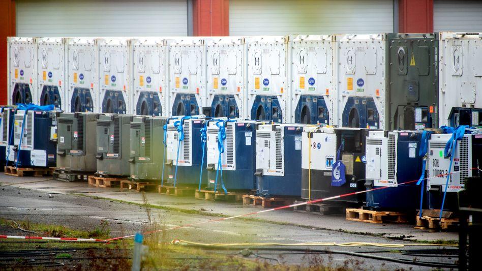 Kühlcontainer zur Impfstofflagerung in Niedersachsen