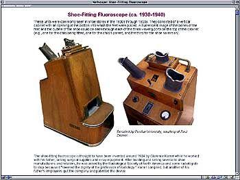 Wundermaschine: Das Fluoroskop (hier ein Modell um 1930/40)