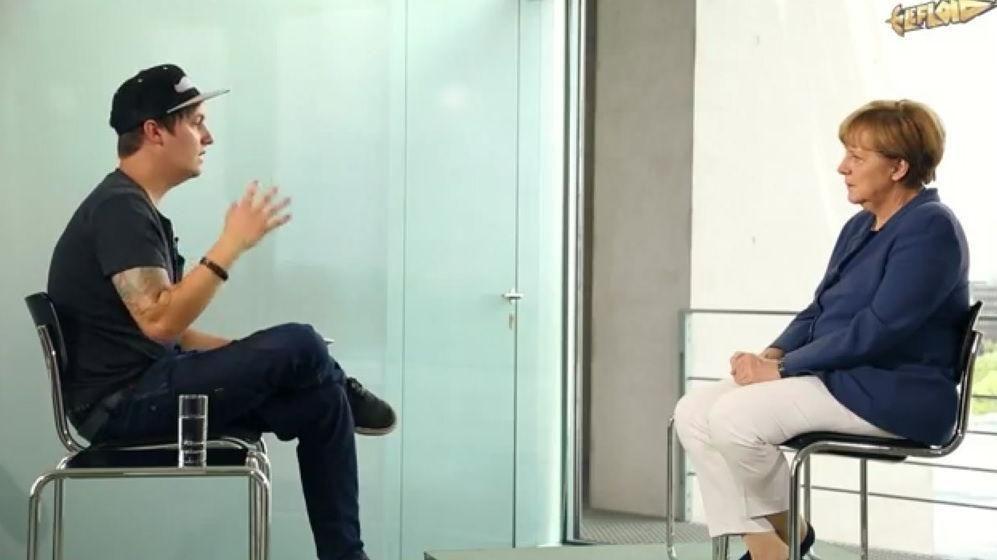 EINMALIGE VERWENDUNG LeFloid interviewt Merkel