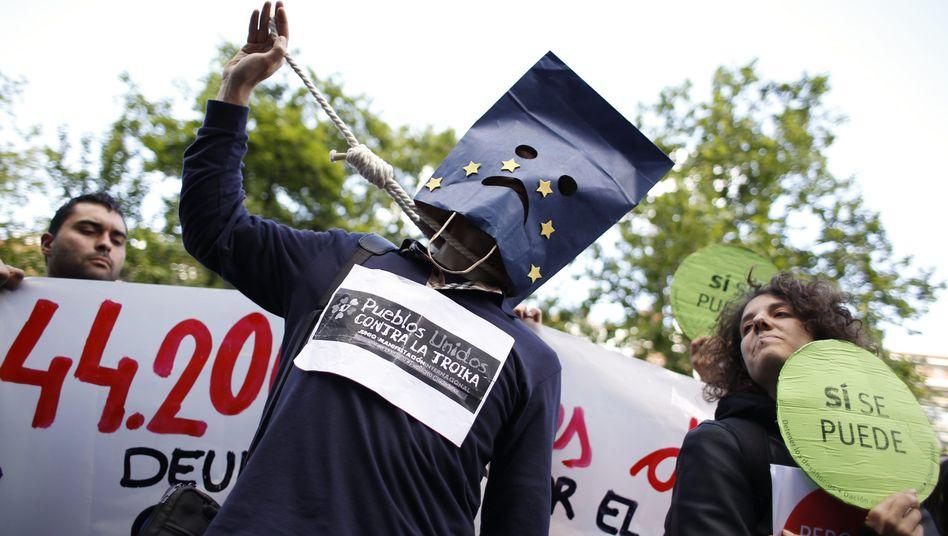 """Anti-EU-Protest in Spanien: """"Die EU hat ihre Kernziele verfehlt"""""""