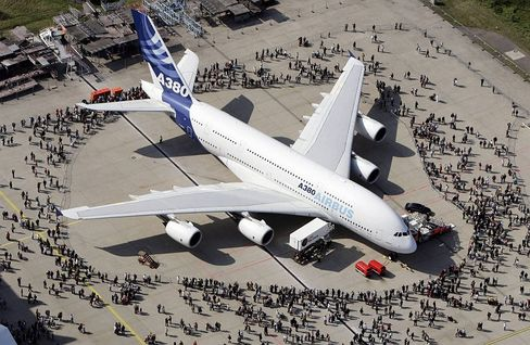 Airbus delivered the first A380 to Singapore Airlines on Monday.