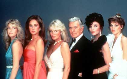 """""""Denver Clan""""-Stars der achtziger Jahre:Locklear, Bellwood, Evans, Forsythe, Collins, Martin"""