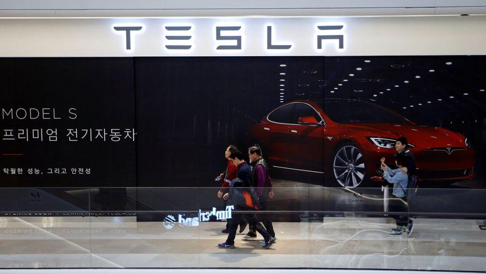 Tesla-Filiale in Südkorea