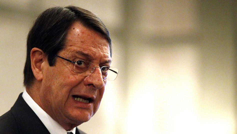 Zyperns Präsident Anastasiades: Braucht Gelder für die Bank of Cyprus