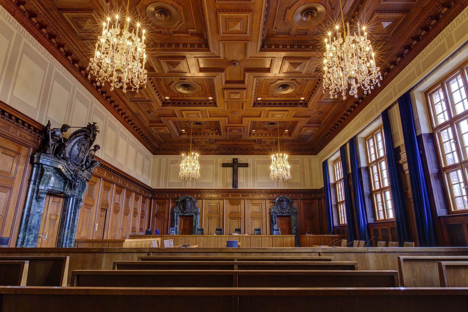 Der Schwurgerichtssaal 600 im Justizpalast Nürnberg Fürther Str 110 Nürnberg 10 02 2017 Foto xC x